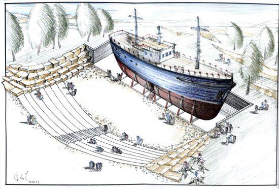 האנייה במחנה המעפילים עתלית