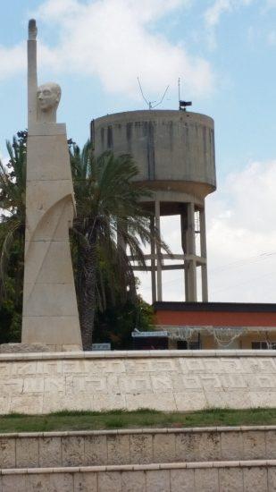 מגדל המים בתל מונד. צילום: טל בן נון גלז